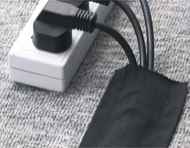 Защитный рукав для проводов на липучках для ковра
