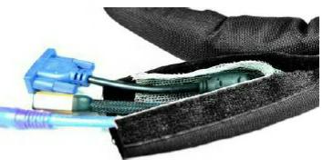 Оболочка для проводов на ленте Velcro с медным слоем